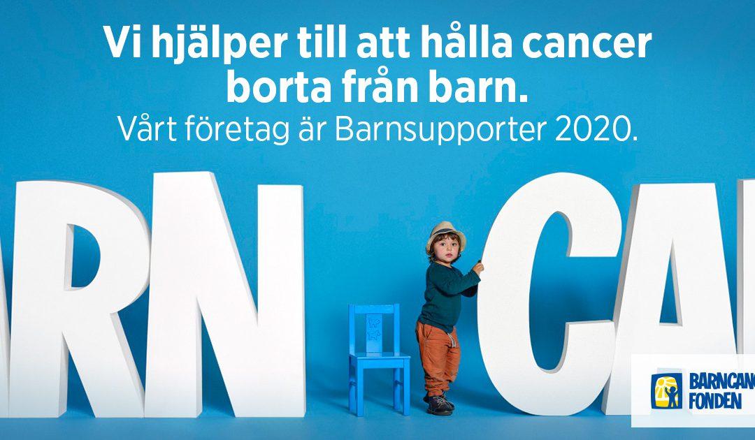 Vi stödjer Barncancerfonden
